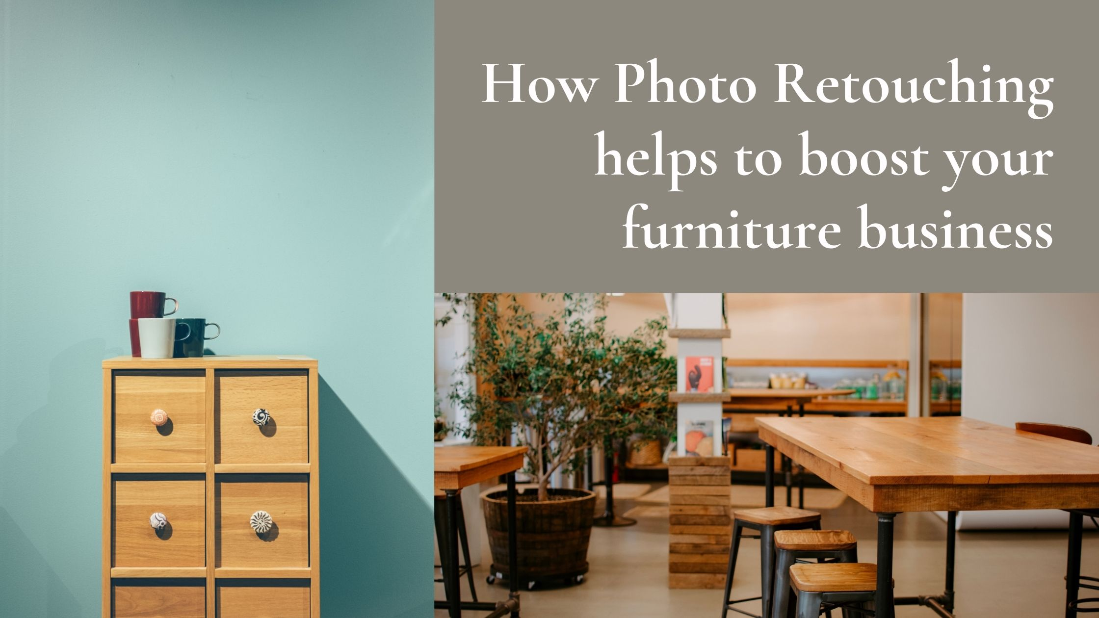 Photo Retouching in furniture business
